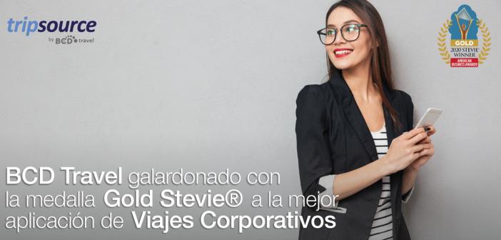 BCD Travel galardonado con la medalla Gold Stevie® a la mejor aplicación de Viajes Corporativos