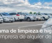 Programa de limpieza e higiene de la empresa de alquiler de autos